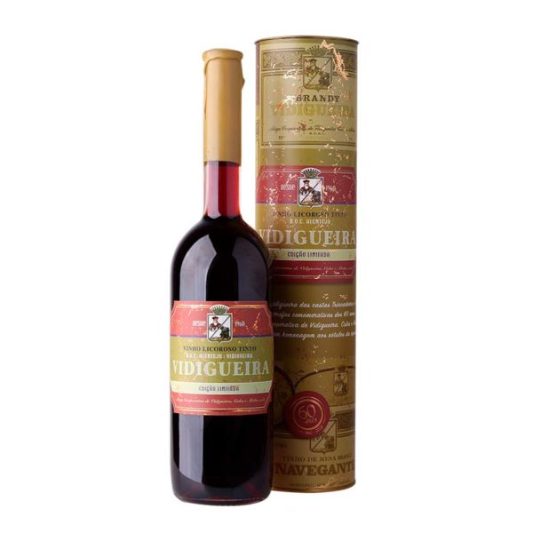 Garrafa e caixa Vidigueira vinho licoroso tinto alentejano 075l ACVCA