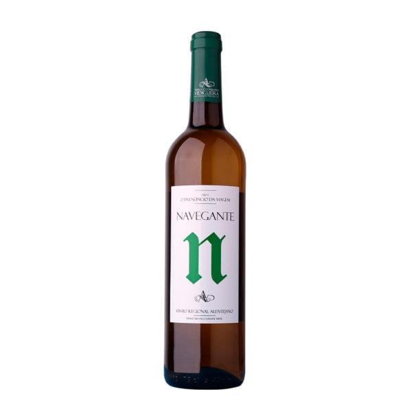garrafa vinho navegante branco alentejano 075l
