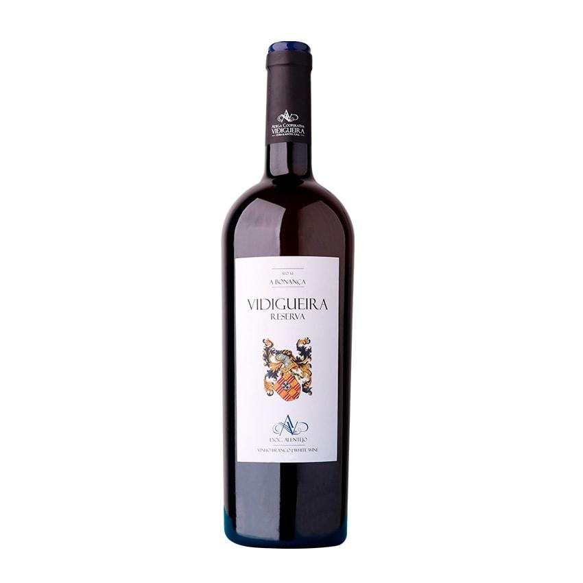 Garrafa de Vinho Vidigueira Reserva Branco alentejano doc 0,75L ACVCA