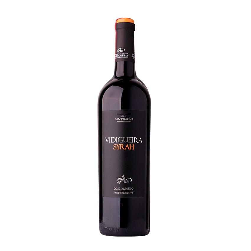 garrafa vinho vidigueira syrah tinto alentejano doc 075l