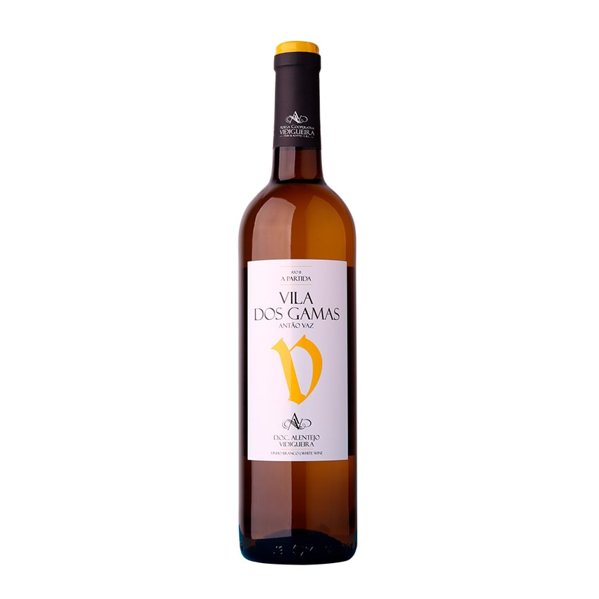 garrafa vinho vila dos gamas antao vaz branco alentejano 075l