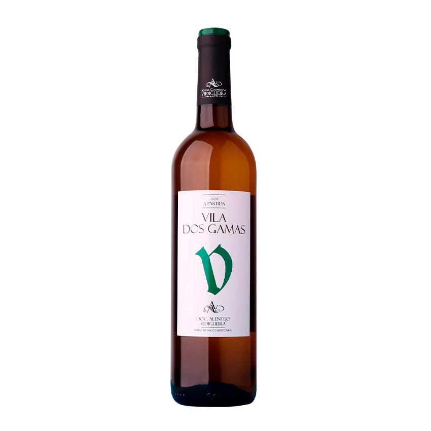 garrafa vinho vila dos gamas branco alentejano 075l