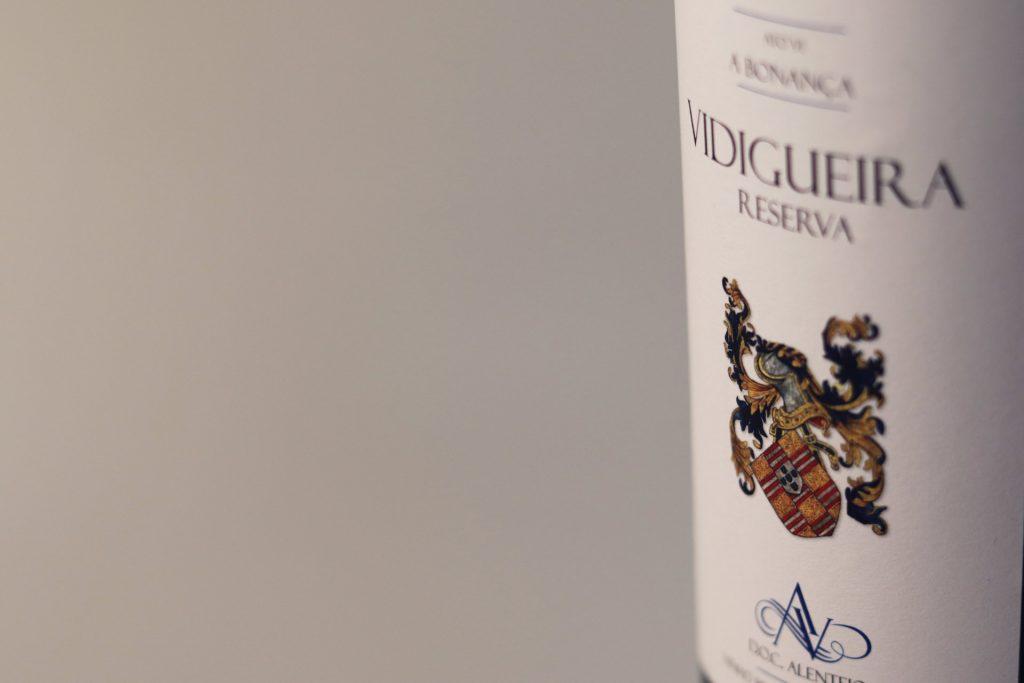 Rótulo da garrafa de vinho Vidigueira Reserva Branco ACVCA