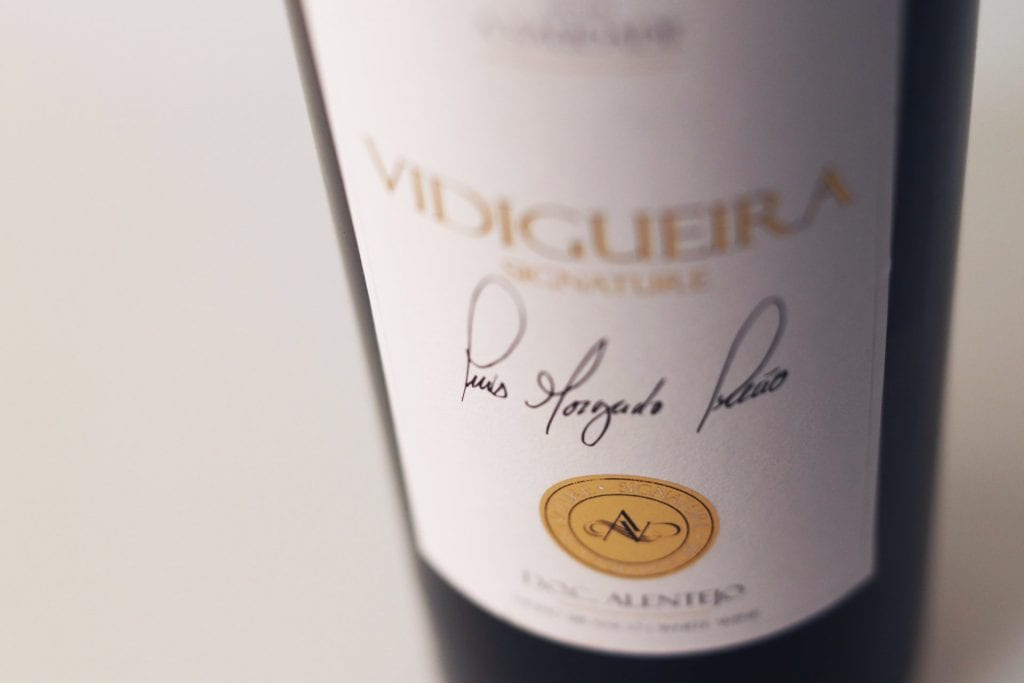 Rótulo garrafa de vinho Vidigueira Signature Branco ACVCA