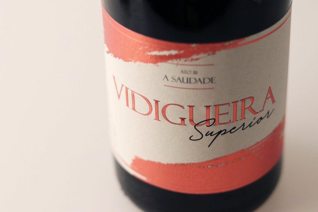 Rótulo de garrafa de Vinho Vidigueira Superior ACVCA