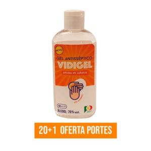 Frasco Vidigel Álcool Gel Aroma Laranja 21 Unidades ACVCA