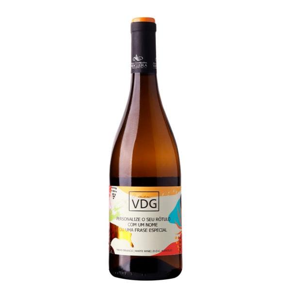 garrafa de vinho branco alentejano o meu vdg com rotulo personalizável